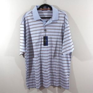 Callaway Golf Mens 2xl Golfing Polo Shirt Blue
